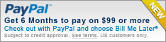 paypal bill me later now offered at Arrington performance