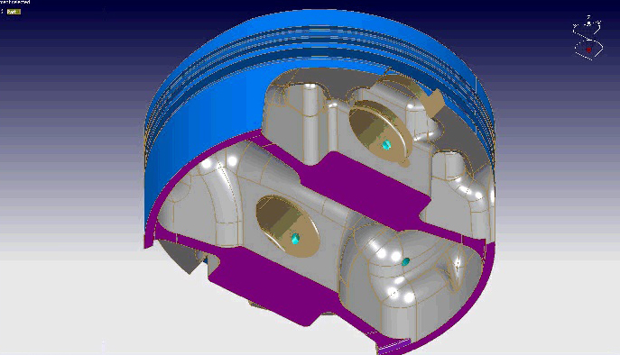 Mahle Piston CAD Model